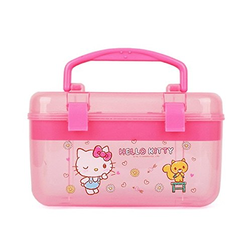 Sanrio Hello Kitty Multi Jewelry Case Box Desk Organizer Box : Pink (Best Tackle Box For Makeup)