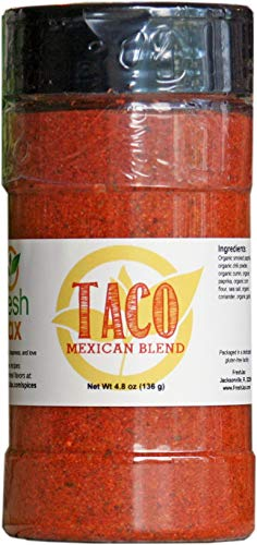 FreshJax Gourmet Spices and Seasonings, Taco Seasoning Mexican Blend Large 4.8 oz