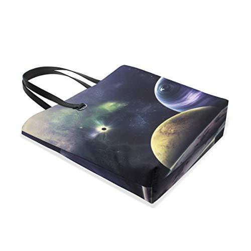 Bennigiry Outer Para Única Hombro Space 001 Tote Talla Mujer Al Bolso Galaxy Triangulum RrqRBpw