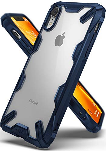 Ringke Fusion-X Compatible with iPhone XR Case Ergonomic Transparent [Military Drop Tested Defense] Hard PC Back TPU Bumper Impact Resistant Protection Cover for iPhone XR 6.1 (2018) - Navy