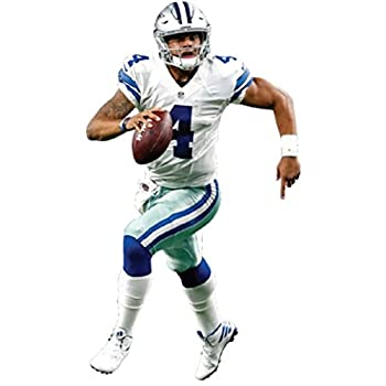 Dak Prescott Mini Fathead Dallas Cowboys Logo Official