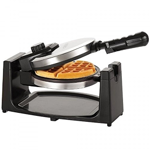 BELLA 13991 Rotating Waffle Maker, Polished Stainless Steel,