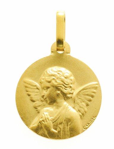 Diamantly - Médaille Ange Mat Profil Gauche - or 375/1000375/1000 (9 Carats) - Unisex - Enfant -Bebe-Adulte