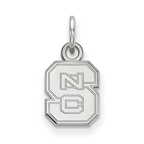 Sterling Silver LogoArt North Carolina State University XS Pendant