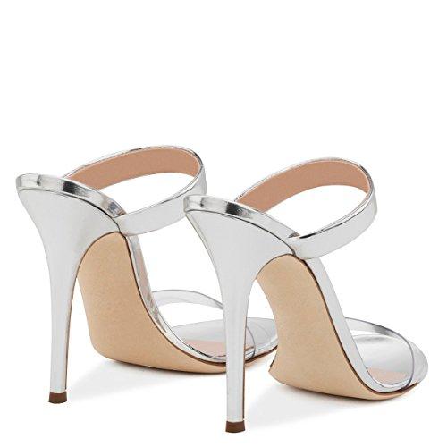 Alta Mujer Moda Con Sandalias De Mujeres Silver Zapatillas Señoras Ultra U10fwqpWta