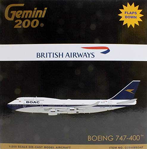 GeminiJets GEMG20834F 1:200 British Airways Boeing 747-400 Reg #G-BYGC Flaps Down (pre-Painted/pre-Built)
