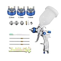 Air Spray Gun HVLP Kit 2.0mm Nozzle Set Paint Touch Up Gravity Feed Atomization