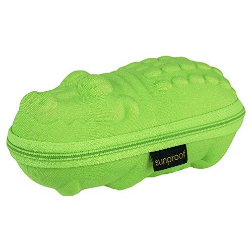Baby Banz Premium Sunglass Case - Green Croc - Green - Baby Banz Case Sunglasses