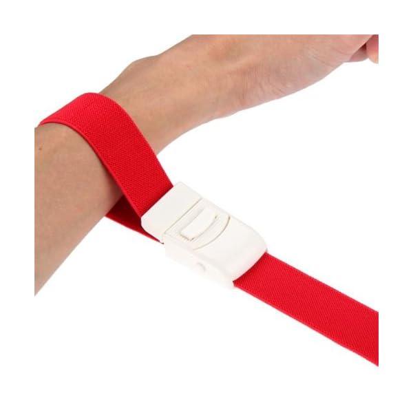 Ligadura Torniquete Médico Ajustable rojo Primeros Auxilios emergencia 10