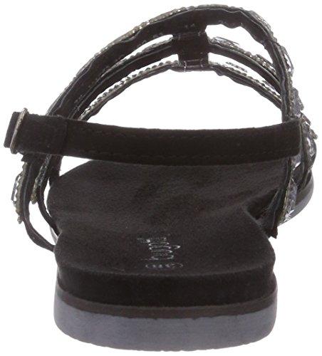 Bugatti V47853G - Sandalias de vestir de cuero para mujer negro - negro