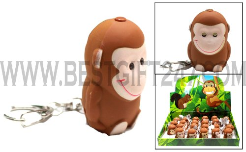 (MONKEY LED Key Chain with Sound (Pack of 3pcs))