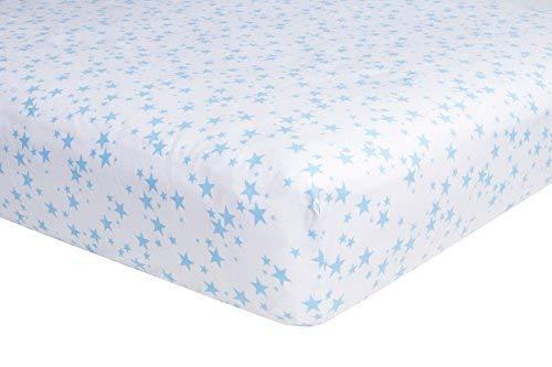 71/x 132/cm gewebte weiche Baumwolle 200/TC Blue Stars 2er Pack Spannbettlaken Kinderbett Blatt