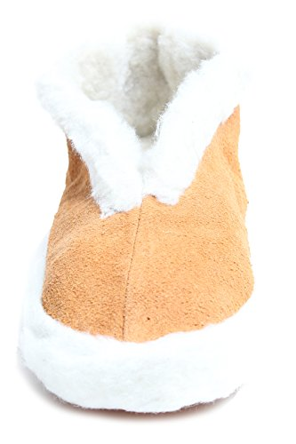 Brubaker - Zapatillas de casa unisex forradas y con antideslizante en la suela, tallas 35-47 Marrón - marrón