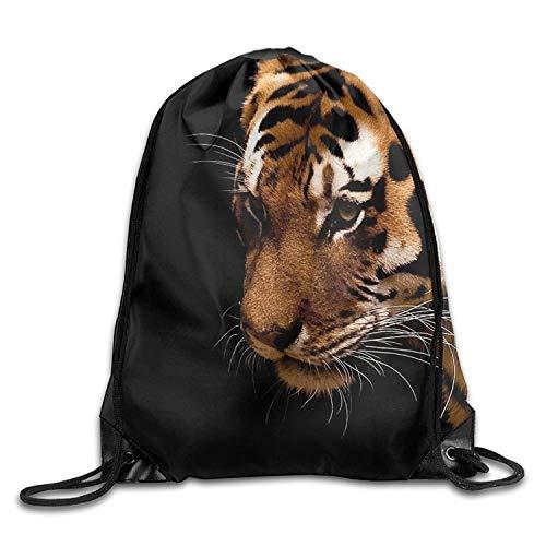 Carl McIsaac Tiger Cyber Monday Unisex Drawstring Shoulder Bag Backpack String Bags Size: 41 X 33 cm