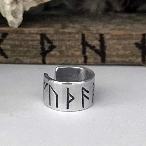 Rune Ear Cuff - Viking Ear Cuff - Silver Aluminum - for Men and Women - Viking Earrings - Viking Beard Beads