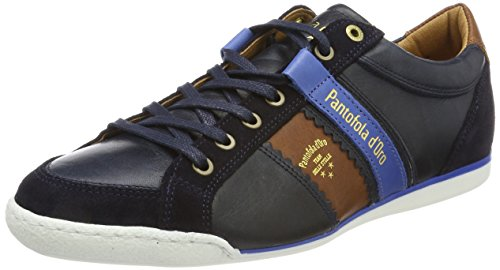 Savio Homme Uomo Baskets Dress Blues Romagna Low d'Oro Pantofola Bleu Ytxq4f5x