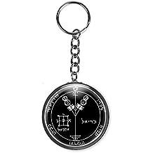 """Jupiter 4 Solomon Seal Wealth, Honor 2.25"""" Button Keychain"""