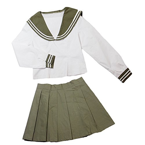 [Costhat Anime Costume School Uniforms Sailor Suit Outfit Cosplay] (Cubs Fan Costume)