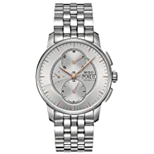 Mido Baroncelli Silver Dial Chronograph Stainless Steel Mens Watch M86074101