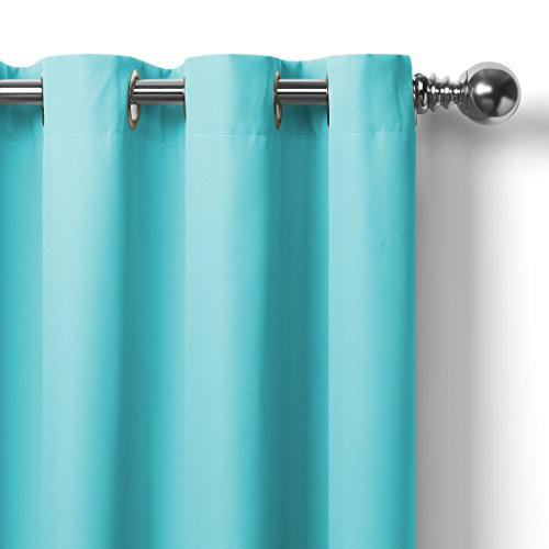 Elrene Home Fashions Connor Indoor/Outdoor Solid Grommet Panel Window Curtain 52'' x 108'' (1), Turquoise by Elrene (Image #5)