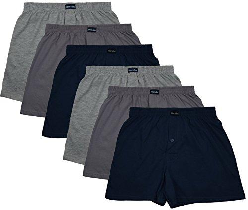MioRalini 6 Herren Boxershorts in klassischen Farben 100% Baumwolle ohne Seitennaht Seamless Grösse 5-10