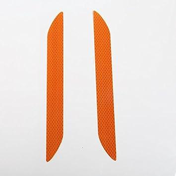 Bolange Giallo Paraurti anteriore e posteriore adesivi riflettenti avvertimento tronco striscia catarifrangente riflette