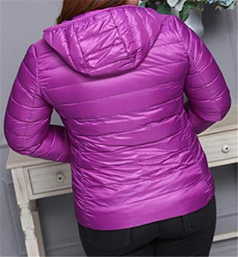 Hooded Women Purple Light Outwear MU2M Packable Down Plus Weight Short Jacket Packable Size 8wCdxZq7
