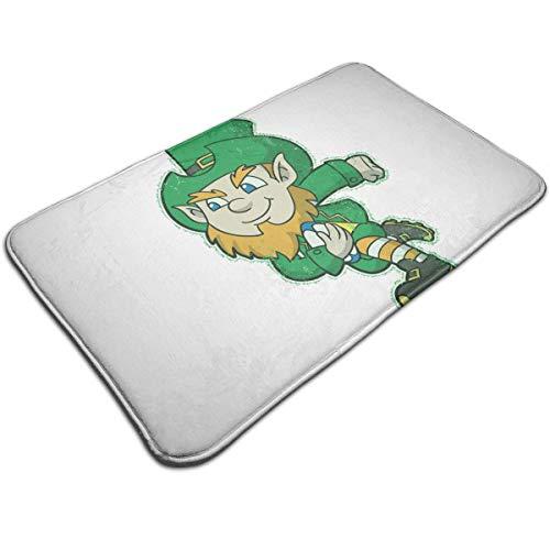 (DIDIDI Retro Irish Rugby Leprechaun Throw Area Ground Mat Restroom Kitchen Bathroom Accent Floor Party Carpet Outside Door Set Decor Welcome Entryway Rug Sign Celebrate Decorations Ornament)