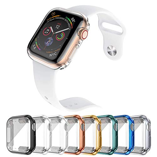 IFECCO 8 Pack 44mm Watch Screen Protector Case for Apple Watch Series 6/5/4/SE, TPU Full Protective HD Ultra-Thin Cover for Apple Watch