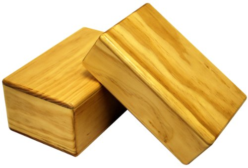 Yoga Direct New Zealand Pine Wood Yoga Block, 4-Inch