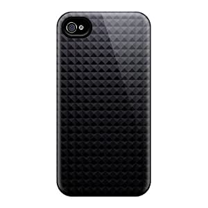 Fashion PGZEIHj1395YeQAS Case Cover For Iphone 4/4s(gray Pyramid Texture Pattern)