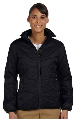 Devon & Jones Ladies' Insulated Tech-Shell Reliant Jacket M Black - Reliant Hooded Jacket