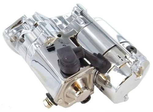 New Discount Starter & Alternator Replacement Chrome Starter for Harley Davidson Motorcycle FLHTC Classic, FLSTF Fat Boy, FXDB Dyna Sturgis, FXLR Low Rider Custom and More