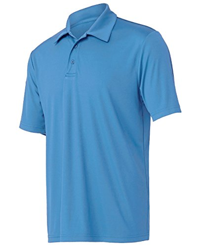 Opna Mens Dry-Fit Golf Polo Shirts,Light Blue,Large