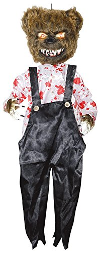 Evil Battery Operated Animated Bloody Bear Scary Light Up Halloween Prop Decor - Bear Arms Costume