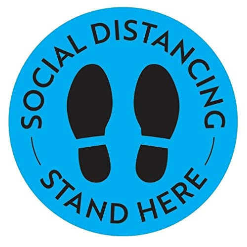 Social Distancing Floor Stickers 10 Pack Keep Your Distance Signs Notice Decals