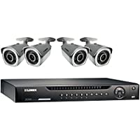 Lorex LNR4082TC4B 8-Channel 2TB NVR 1080p HD with 4 x Weatherproof IP Cameras PoE (Black)