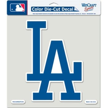 "WinCraft MLB Los Angeles Dodgers Die-Cut Color Decal, 8""x8"", Team Color"