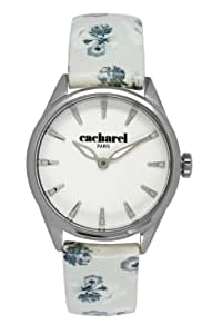 Cacharel Women`s White Dial Leather Band Watch [CLD 012/BB]