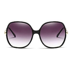 Freckles Mark Super Oversize Square Rectangular Plastic Women Fashion Sunglasses (Black, 60)