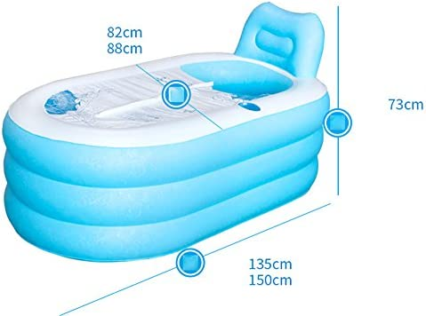 Baño de plástico plisado inflable para adulto adulto espeso ...