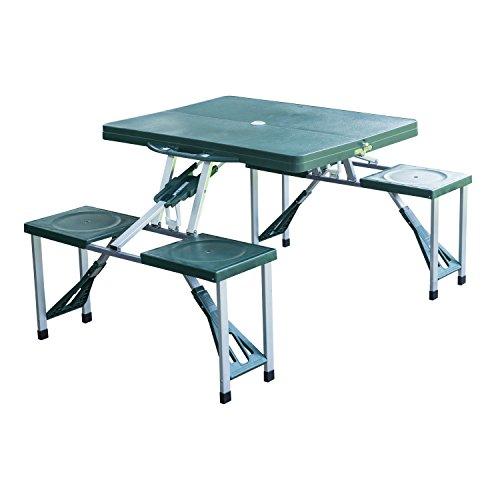 New outdoor portable folding aluminum picnic table 4 seats chairs new outdoor portable folding aluminum picnic table 4 seats chairs camping wcase by totoshop watchthetrailerfo