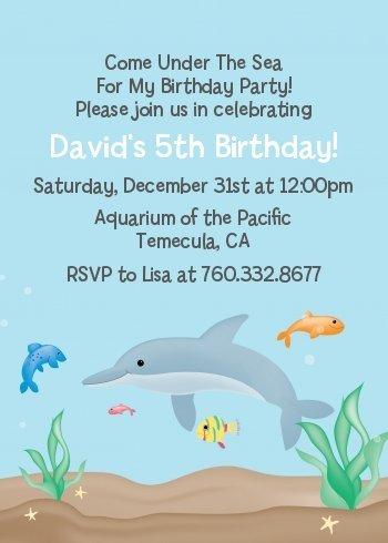 Amazon dolphin birthday party invitations health personal care dolphin birthday party invitations filmwisefo