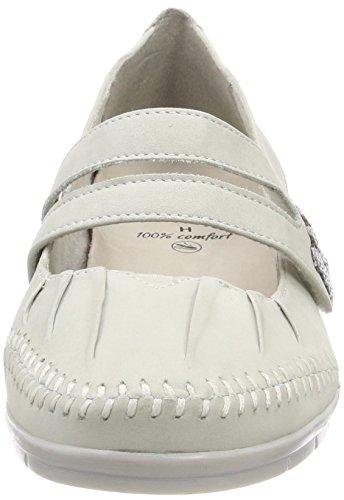 Jana 24611 Tacco offwhite Bianco Con Scarpe Donna qZ4rpq7w
