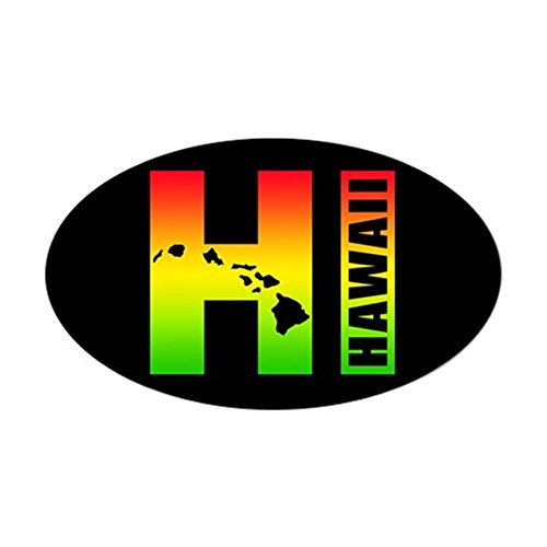 CafePress Hawaii Surfer Colors Sticker