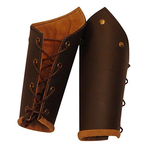 Knight's Brown Leather Battle Arm Bracer