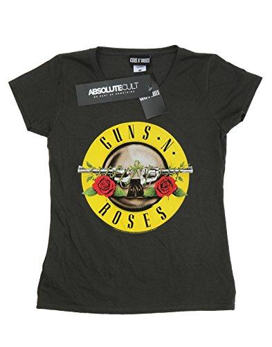 Guns N Roses Damen Bullet Logo T-Shirt X-Small Licht Graphite