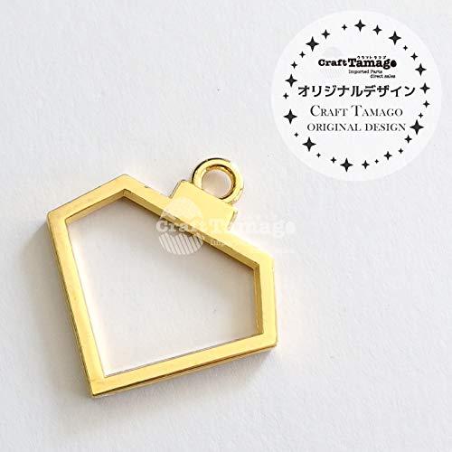 レジン枠 空枠 ダイヤ ミニ //Craft Tamagoオリジナル// 【100個】金古美  B07S6DB8WY