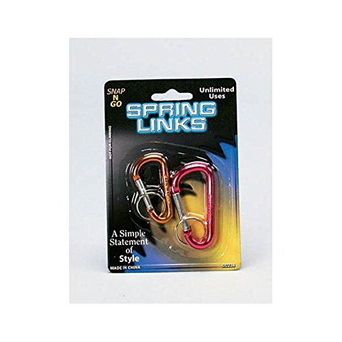 144 2 Pack spring links (assorted colors) by FindingKing