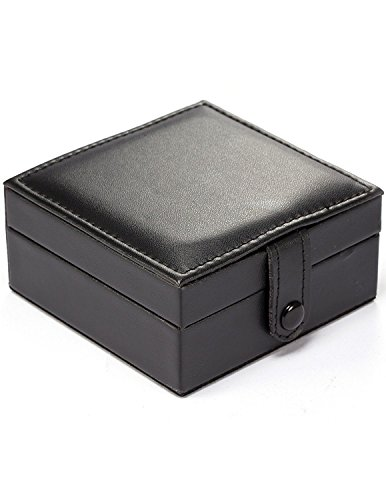 Treeweto Luxury PU Leather Pocket Watch Box Display Storage Case